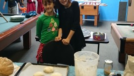 Members baking bread